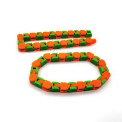 Wacky Tracks - Sensory Fidget Toy - Grön/Orange
