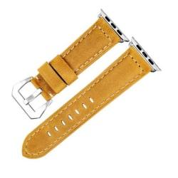 Watchband i äkta läder till Apple Watch 42mm - LjusBrun