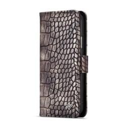 WHATIF Croco Plånboksfodral Apple iPhone X - Brun
