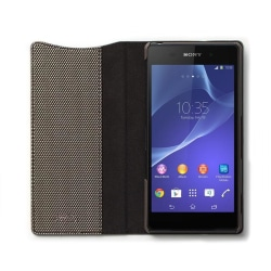 Zenus Metallic Diary Väska till Sony Xperia Z2 - Silver