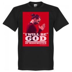 Manchester United T-shirt Zlatan God Svart L