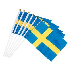Sverige Flaggor Hand