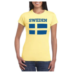 Sverige T-shirt Fashion Dam XXL