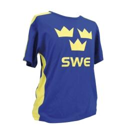 Sverige T-shirt Tre kronor Barn 100 cl