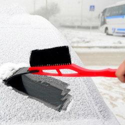 2-i-1 bilskrapa snöborttagningsborste Red