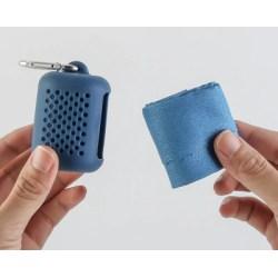40 * 40 cm bärbar mikrofiberhandduk för snabbtorkning utomhus blå