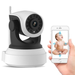 Baby monitor wifi grå larm ip kamera video barnflicka kamera 3