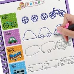 Barns ritböcker, lärande måleri, skrivning, copybook för