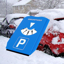 Bil vindruta snö spade tid display skiva retur tid anmärkning