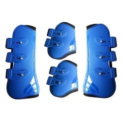 Främre bak praktiska hästbenkänga, skyddsplast Blue L