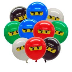 Ninjago tema, ballonger för barn födelsedagsfest dekoration 10 st