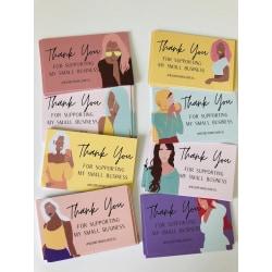Tack för att du stöder mina små visitkort 50pc