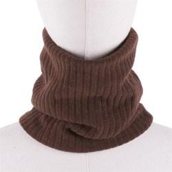Unisex vinterpojkar / tjejer varma stickade halsdukar barn coffee-200004891