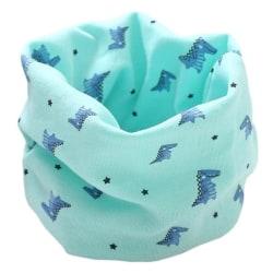 Vår baby kläder tillbehör barn halsduk, höst vinter baby green dinosaur fit 0 to 7 years old