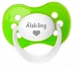 Napp MILKY, Älskling med hjärta under (grön)