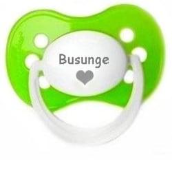 Napp MILKY, Busunge med hjärta (grön)