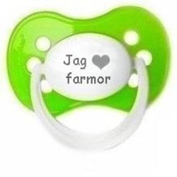 """Napp MILKY,  Jag """"hjärta"""" farmor (grön)"""