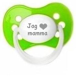 """Napp MILKY, Jag """"hjärta"""" mamma (grön)"""