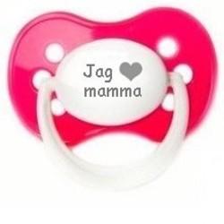 """Napp MILKY, Jag """"hjärta"""" mamma (rosa)"""