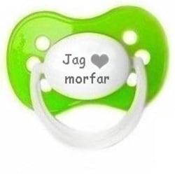 """Napp MILKY, Jag """"hjärta"""" morfar (grön)"""