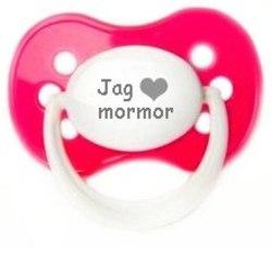 """Napp MILKY, Jag """"hjärta"""" mormor (rosa)"""