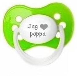 """Napp MILKY, Jag """"hjärta"""" pappa (grön)"""
