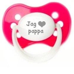 """Napp MILKY, Jag """"hjärta"""" pappa (rosa)"""