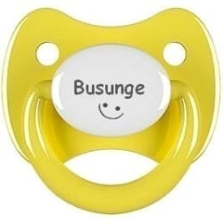Napp RETRO, Busunge med smiley (gul)