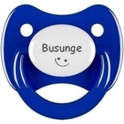 Napp RETRO, Busunge med smiley (mörkblå)