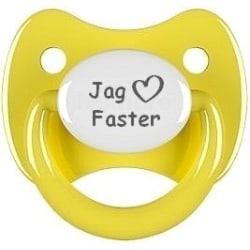 """Napp RETRO, Jag """"hjärta"""" faster (gul)"""