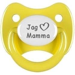 """Napp RETRO, Jag """"hjärta"""" mamma (gul)"""