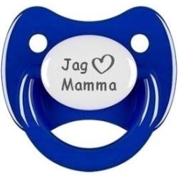 """Napp RETRO, Jag """"hjärta"""" mamma (mörkblå)"""