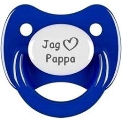 """Napp RETRO, Jag """"hjärta"""" pappa (mörkblå)"""
