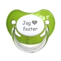 """Napp SAFARI, Jag """"hjärta"""" faster (grön)"""