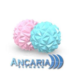 Massageboll i diamantdesign Azurblå one size