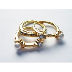 Ringset i guld Guld