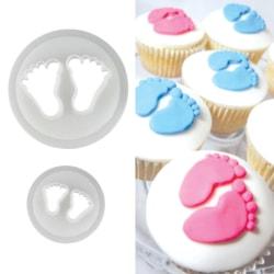 2 Babyfötter Utstickare Baby Feets Baby Bebis Fötter Cutter multifärg