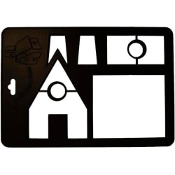 Utskärare hus 28,5 cm Gastromax  Svart