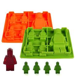 5 Lego Bitar Gubbar Klossar Byggklossar Robot Silikonform multifärg