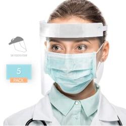 5-Pack Visir - Ansiktsskydd - Skyddsvisir - Skydd Ansikte & Mun Blå