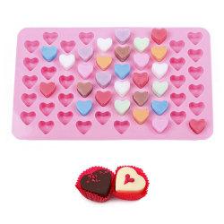 55 Hjärtan Hjärta Pralin Silikonform Pralinform Form Bakform Cho Pink