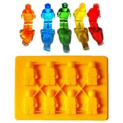 8 Bitar LEGO Gubbar Klossar Byggklossar Robot Silikonform Form Blue