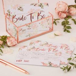 Advice Card Blommor - Team Bride multifärg
