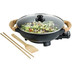 AEW100AS ELECTRIC WOK WITH BAMBOO HANDLES Vit