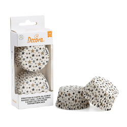 Muffins Formar Stjärnor 36st - Decora multifärg