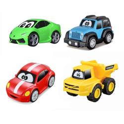 BB Junior Min Första Bilsamling- Fyra söta fyrhjulingar  multifärg