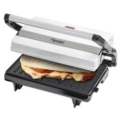 Bestron Smörgåsgrill Paninigrill APM123Z, Toaster 700 W, 1,25 kg Silver