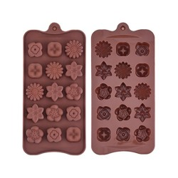 Blommor Silikonform Chokladform Pralinform Form Praliner - BakeC multifärg