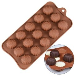 Blommor SIlikonform Chokladform Pralinform Form Praliner MultiColor