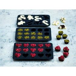 Blomsterbergs Chokladform 3 delar Grå grå
